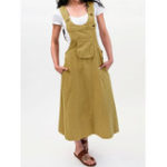 New Women Cotton Casual Pure Color Sleeveless Pockets Dress