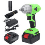 New 168VF 19800mAh 350NM Cordless Electric Car Brushless Torque Impact Wrench Drill