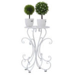 New Metal Outdoor Indoor Pot Plant Stand Garden Decor Flower Rack Wrought Iron