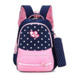 New 22L Cute Kids Children Girl Backpack Waterproof Nylon School Book Rucksack With Pencil Bag
