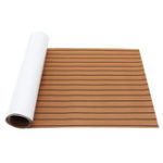 New 240x90x0.6cm Marine Flooring Faux Teak EVA Foam Boat Decking Sheet Brown