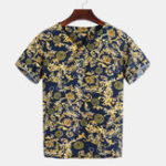 New Mens Summer Loose Floral Printed T-shirts