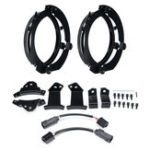 New Pair 7 inch Round LED Headlight Mounting Bracket Ring with Cables Kit For Jeep JK Wrangler/Harley