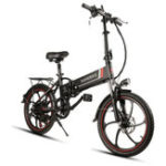New Samebike XW-20LY 350W Smart Folding Electric Bike 35km/h Max. Speed 48V 8AH E-Bike Battery