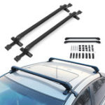New Aluminum Car Roof Rack Cross Bars Luggage Carrier Rubber Gasket For 4DR Car Sedans SUV