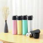New 500ml Stainless Steel Thermal Vacuum Water Bottle Hot Coffee Lid Travel Cup Mug