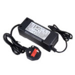New 54.6V 2A 48V Lithium Battery Charger DC Plug For Electric Scooter Bicycle E-bike