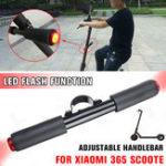 New Adjustable LED Light Handlebar Children Kids Handle Grip Handrail Bar For Xiaomi M365 Scooter