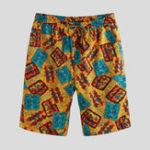 New Mens Summer Funny Printed Elastic Waist Casual Shorts