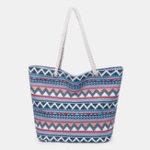 New Women Canvas Geometric Patterns Bohemia Handbag