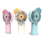 New 3 Speed Mini Portable Fan Handheld Rechargeable USB Cooling Desktop Fan