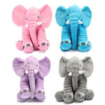 New 30x35cm Baby Lumbar Pillow Long Nose Elephant Doll Pillow