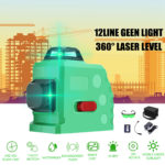 New 3D 12 Line Laser Level Green IP54 Self Leveling 360° Rotary Cross Measure