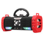 New Portable Wireless bluetooth Speaker LED Light Heavy Bass 2200mAh TF Card Speaker with Mic with Phone Holder
