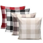 New 45x45cm Grid Square Pillow Case Cushion Cover Sofa Throw Home Bedroom Decor