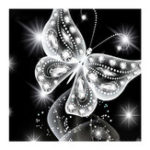 New Butterfly 5D Diamond Paintings Embroidery Cross Stitch Tool Kit