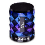 New Mini Wireless bluetooth Speaker FM Radio TF Card Colorful Light Music Speaker with Mic