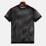 New Men Hollow Mesh Short Sleeve Fashion T-Shirts