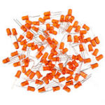 New 500pcs 5mm LED Orange Light-emitting Diode Feet Long 16-18mm DIP Led Diode Orange Colour