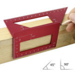 New 45° 90° Angle Aluminum Alloy Woodworking Scriber T Ruler Multifunctional Angle Ruler