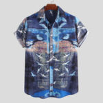 New Mens Summer Hawaiian Short Sleeve Pattern Printed Shirts