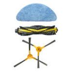 New Accessories for NEATSVOR X500 Vacuum Cleaner Main Brush*1 Rag*1 Side Brush*1