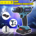New Drillpro 88VF Cordless Electric Drill Rechargeable Power Screwdriver 25+3 Torque W/ 2 Li-ion Battery