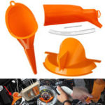 New Motorcycle Crankcase Fill+Primary Case Oil Fill+Drip-Free Oil Funnel For Harley Touring