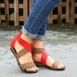 New Lostisy Women Weave Stitching Sandals