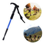 New 55-110cm 4 Sections Outdoor Sports Folding Trekking Pole Hiking Climbing Stick Elderly Crutches
