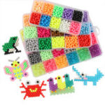 New 4800Pcs 24 Color Fuse Beads Water Sticky Beads DIY Craft Refill Water Spray Kid Art Toys Puzzles Tool Set