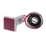 New 3pcs Red Light AC 60-500V 0-100A D18 Square LED Digital Dual Display Voltmeter Ammeter Voltage Gauge Current Meter