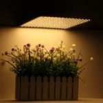 New 225LED Grow Light Warm White Lamp Ultrathin Panel Hydroponics Indoor Plant Veg Flower AC85-265V