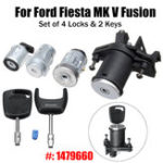 New Set of 4 Lock Door Ignition Barrel Petrol Flap Tailgate with 2 Keys 1479660 for Ford Fiesta MK V Fusion