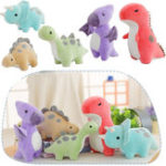 New Colorful Cute Dinosaur Doll Stuffed Plush Toy Grab Machine Doll Boys and Girls Gift