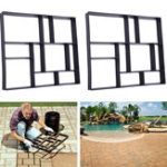 New Rectangle Walk Maker Stepping Stone Reusable Paver Molds Brick Mould Cement Brick Mold DIY Garden Walkway Pavement