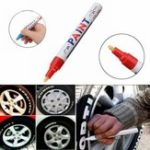 New 2Pcs Red Color Tyre Permanent Paint Pen Tire Metal Outdoor Marking Ink Marker Trendy