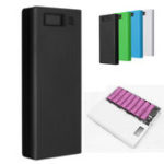 New 30000mAh DIY Portable Charger Charge Dual USB Battery Power Bank Case 8×18650