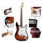 New IRIN ST 38 Inch 6 Strings Electric Guitar with Guitar Bag/Strings/Rocker/Wrench/Picks/Strap/Cable