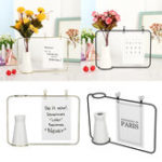 New Photo Frame Iron Bracket Picture Memo Card Rack Holder Home Livingroom Decorations