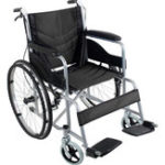 New 24 inch  Folding Foldable Chair Medical Wheelchair