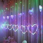 New Window Curtain LED String Lights Christmas Led Wedding Valentine Day Party Fairy Decorations