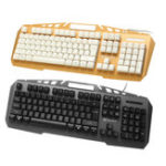 New JK890 Colorful Backlight Alloy Panel USB Wired Gaming Keyboard 2400DPI LED Gaming Mouse Combo