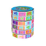 New Cylindrical Magic Cube Digital Puzzle Plastic Children Game Toy Early Education Learning
