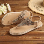 New Women Hollow Out Flowers Flat Sandals
