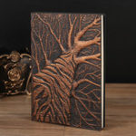 New Embossed Tree Leather Travel Journal Vintage Handcraft Antique Diary Notebook