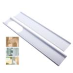 New 2pcs Adjustable Window Slide Kit Plate Air Conditioner Wind Shield Portable Air Conditioner Spare Parts