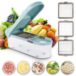 New Multifunctional Vegetable Cutter Food Chopper Adjustable Slicer With 3 Blades Kitchen Tool
