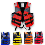 New XXL Outdoor Survival Life Jacket Fully Enclose Foam Adult Boating Life Jacket Vest with Whistle