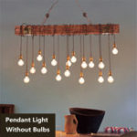 New Vintage Metal Wooden Industrial Hanging Ceiling Lamp Chandelier Pendant Lights